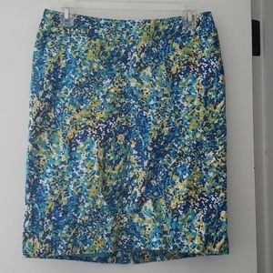 Merona Cool Colors Pencil Skirt Sz 4